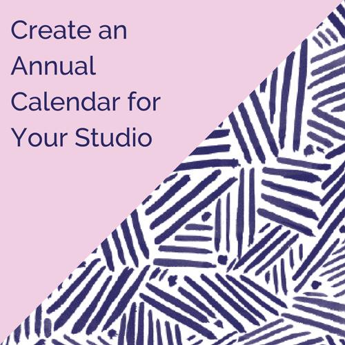 Create an annual calendar at your dance studio