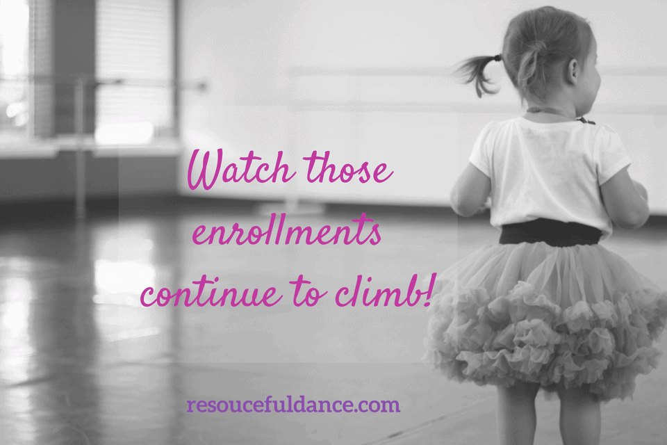 Keep after those dance studio enrollments even after your session starts!