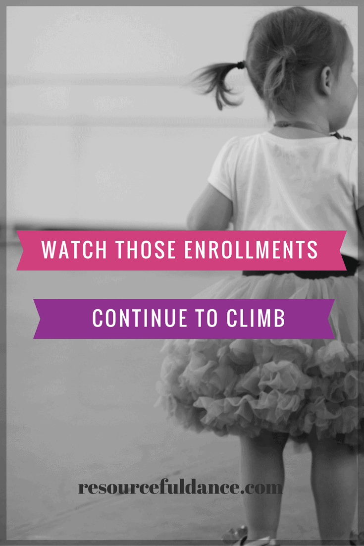 Make sure you aren't giving up on enrollments at your dance studio! It is never too late to get new students.