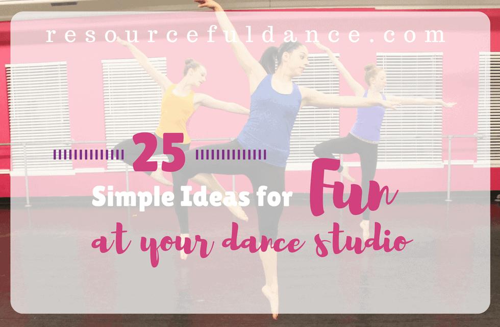 Fun at your dance studio
