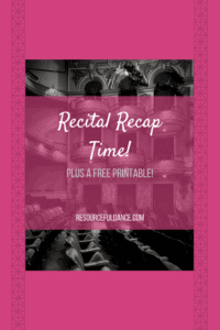 All dance studio owners need to take a couple minutes to reflect on recital, this is why! Includes a recital recap printable!