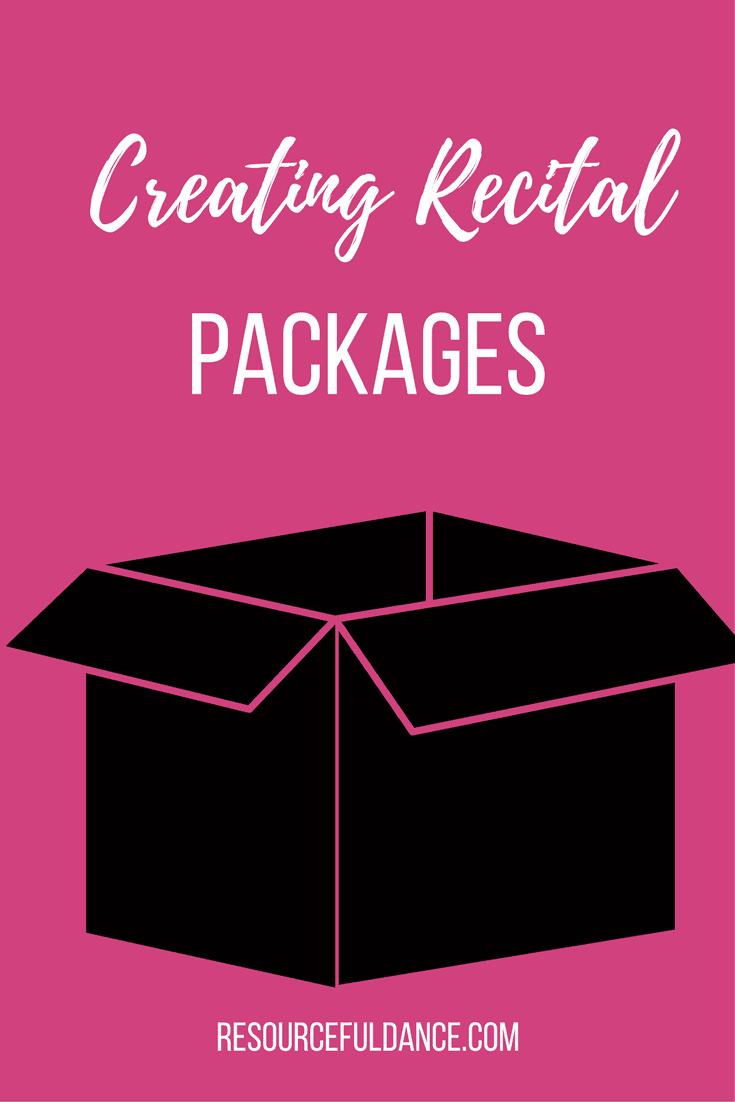 Creating recital packages can be way to plan better and make life for parents easier at your dance studio.