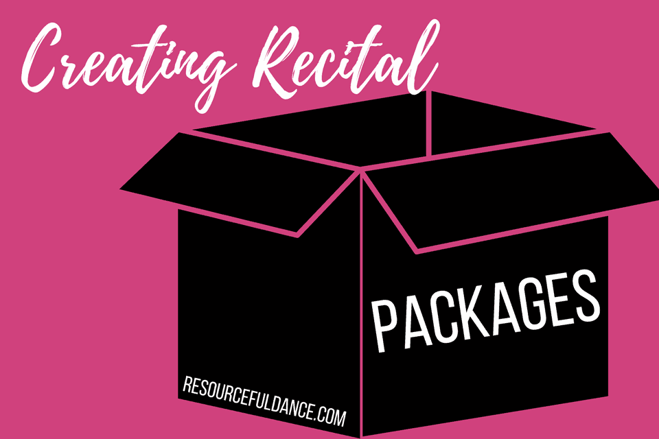 How to get started creating recital packages for dance studio owners