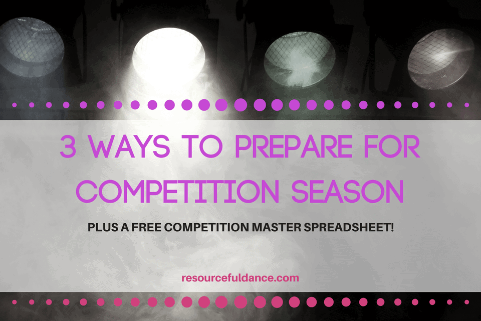 Great resource for starting competition season. Includes a free competition master spreadsheet for dance studio owners!