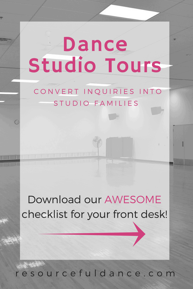Dance studio tours that convert inquires into studio families. We've also included a handy checklist!
