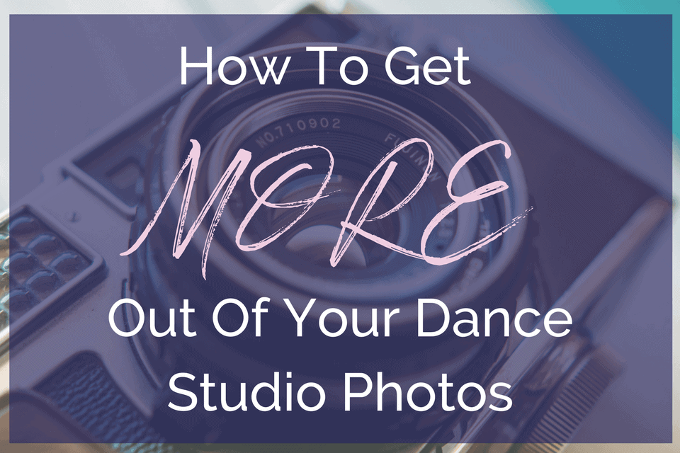 Great advice for dance studio owners on photos for their website.